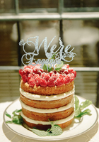 Deco Mariage Bride Groom Beach Fashion Initial Party Favors Engraving Wedding Cakes Pictures Anniversary Custom Cake