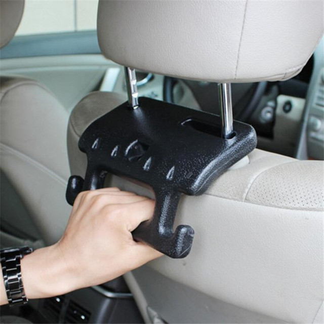 Car Seat Back Hook Auto Hooks Garbage Bag Convenient HOOK Double Clip