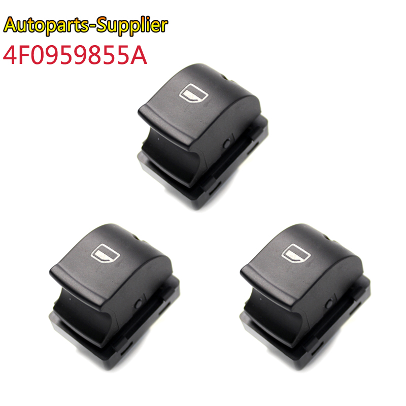 4F0959855A Single Electronic Power Window Control Switch Button For 2004 - 2015 Audi A3 Sportback A6 A6 Avant Q7 4F0 959 855A image