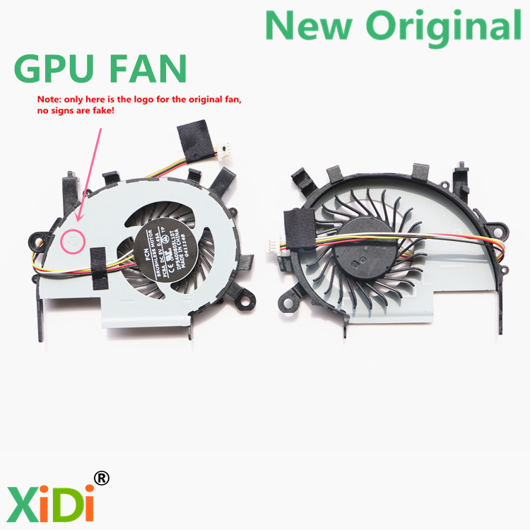 NEW Original COOLING FAN FOR ACER V5-452G V5-552G V5-472 V5-472P V5-572G V5-573G V7-582PG GPU COOLING FAN qqv6 aluminum alloy 11 blade cooling fan for graphics card silver 12cm