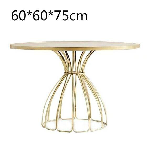 Луи Мода кафе столы скандинавские мраморные железные Золотые круглые журнальные переговоров - Цвет: G1
