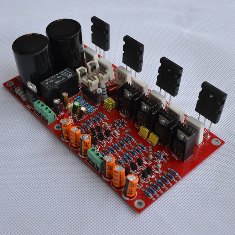 100W * 2 dual AC 26V-36V 2.0 channel Toshiba C5200 / A1943 output power tube AB DIY fever power amplifier board krell ksa100 c5200 a1943 260w 2 class ab power amplifier board