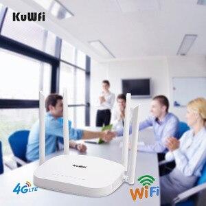 Image 5 - KuWFi 4G LTE Wifiルーター300Mbps 3G / 4GワイヤレスCPEルーターとSimカードスロットサポート4GからLAN、4個のアンテナで最大32ユーザー
