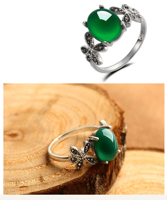 diopside simple stone woman green silver rings for fashion ring real with colifejewelry engagement sterling natural from product