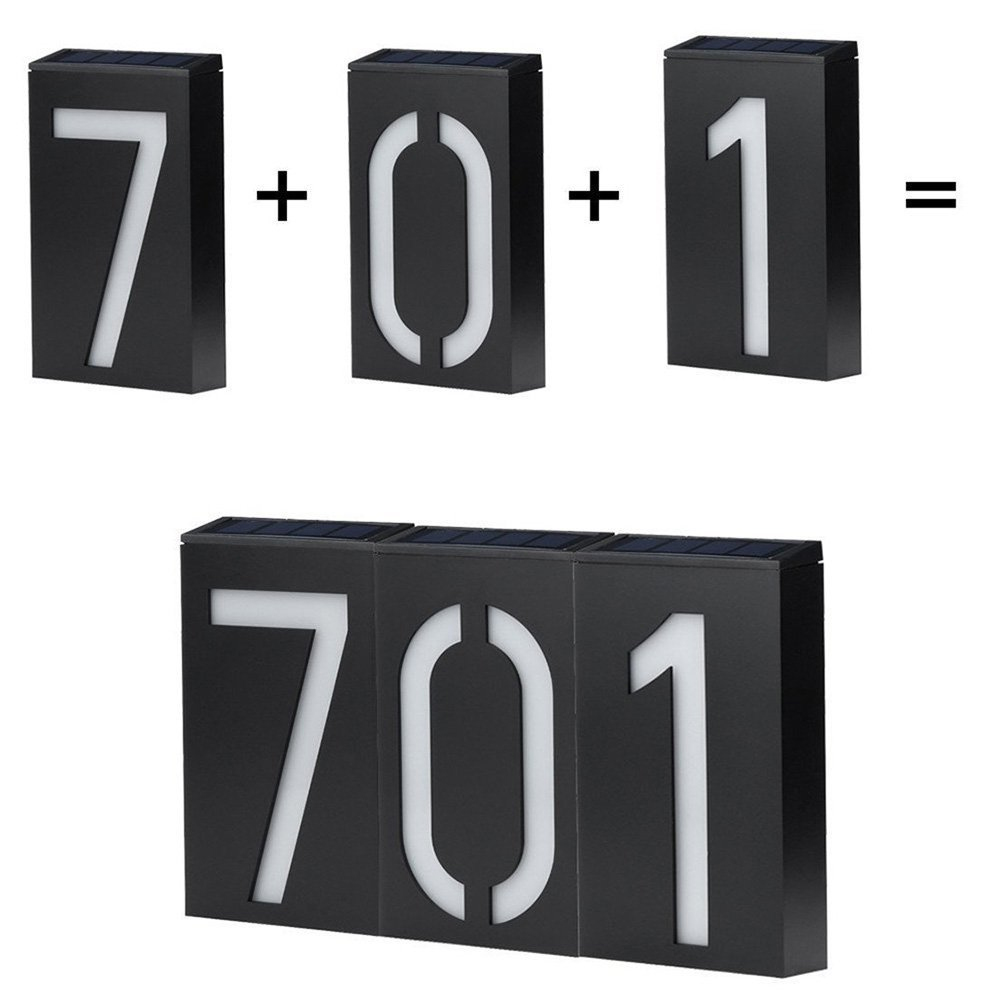 Waterproof Solar Powered Illuminated House Door Number 6 LED Outdoor Wall  Plaque Light Sign In Solar Lamps From Lights U0026 Lighting On Aliexpress.com  ...