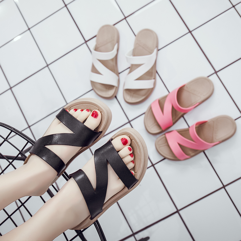 2019 New Summer Women Slippers Fashion Platform Beach Sandals Comfortable PU Leather Casual Women Shoes Zapatos De Mujer size 112019 New Summer Women Slippers Fashion Platform Beach Sandals Comfortable PU Leather Casual Women Shoes Zapatos De Mujer size 11