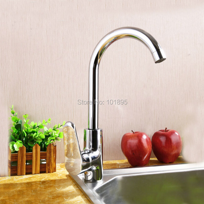 L16733 Luxury Brass Material Chrome Finishing Kitchen Sink Faucet
