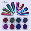 Chameleon Mirror Nail Glitters Powder 0.5g Chrome Pigment Manicure Nail Art Decoration Black Base Color Needed