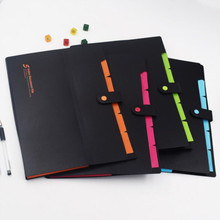 A4 Folder Stationery Document-Bag File-Storage Papers Information Multi-Layer 5 8-Color