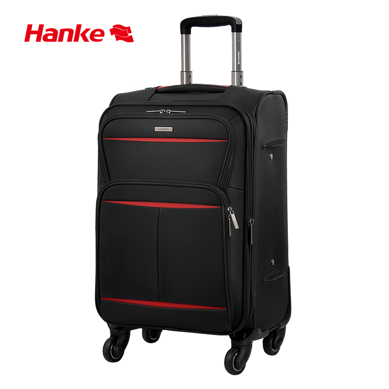 Hanke Soft Cloth Suitcase Waterproof Expandable Luggage Trolley Case Spinner Wheels Rolling Luggage For Travel 20-28 Inch H8662
