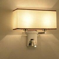 Современный минималистский атмосфера гостиничном номере чтения двойной фары спальня светодиодные нержавеющая сталь ночники настенные св