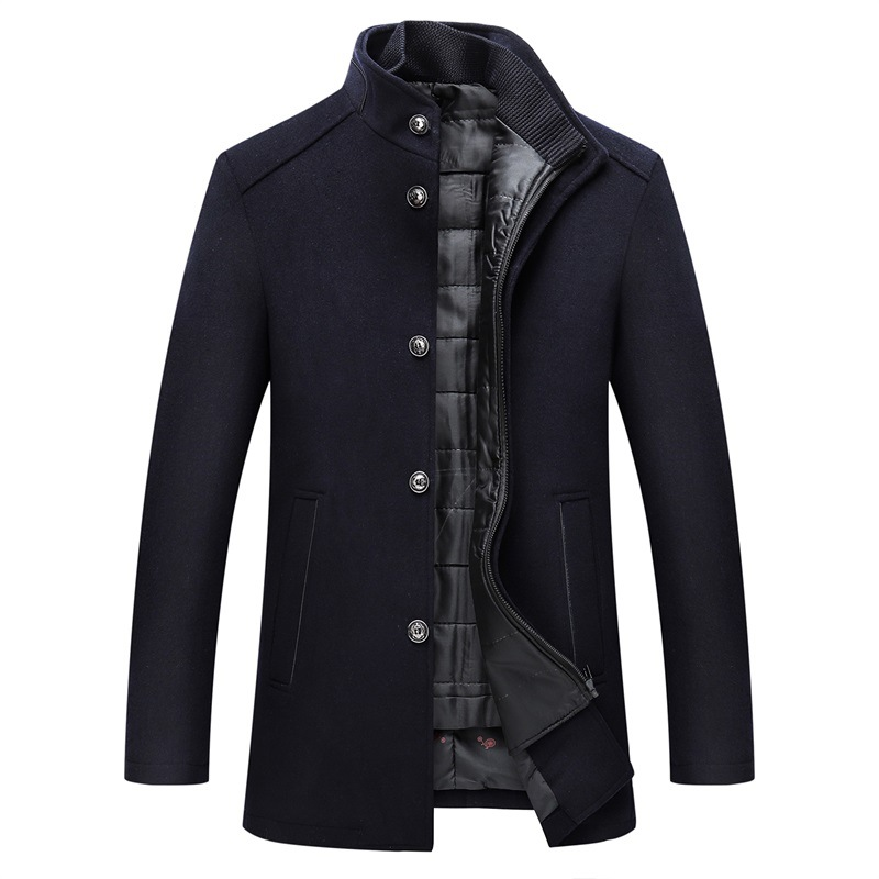 Winter Warm Wool Coat Men Thick Overcoats Topcoat Mens Single Breasted Coats And Jackets With Adjustable Vest Men's Coat 11
