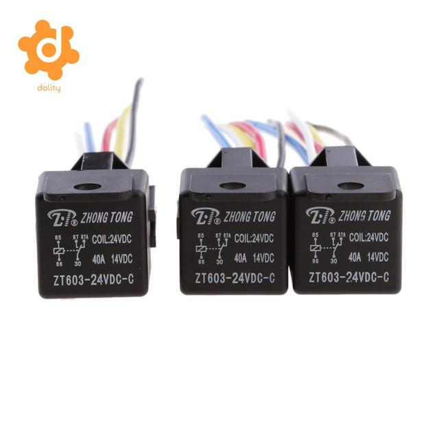 Magnificent 3 Pieces 24V 40A 5 Pin Spdt Relay With Socket Harness Automotive Wiring Digital Resources Honesemecshebarightsorg