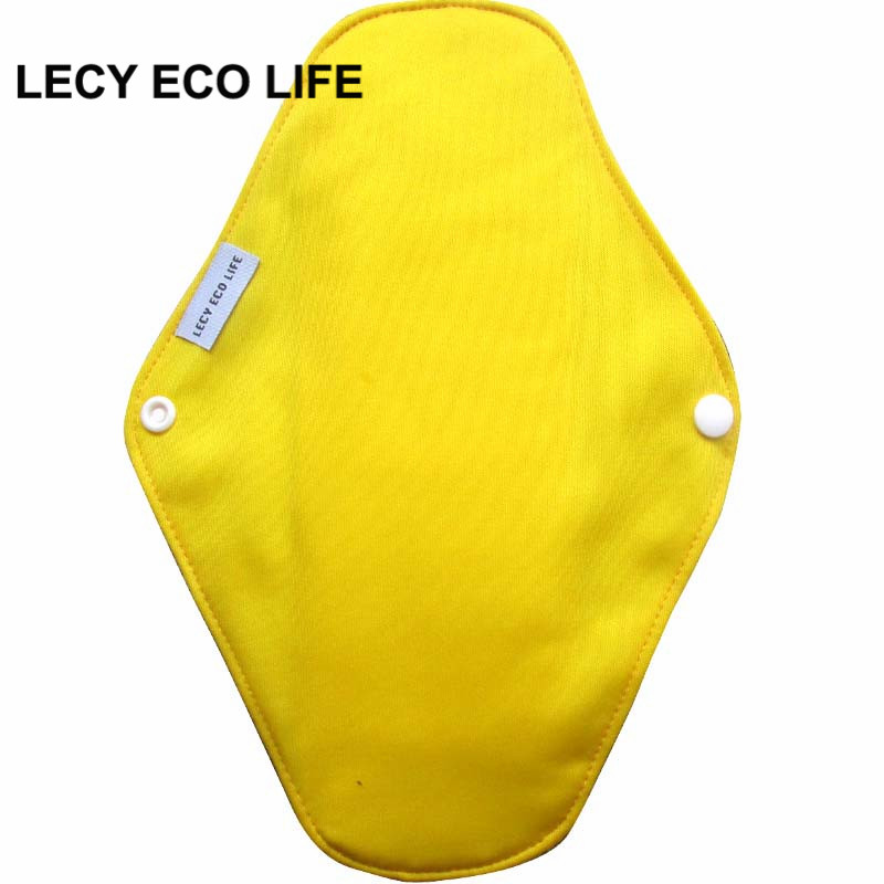 [Lecy Eco Life] Reusable lady light days cloth pads, waterproof pantyliner with bamboo charcoal inner, Feminine Hygiene Product 8