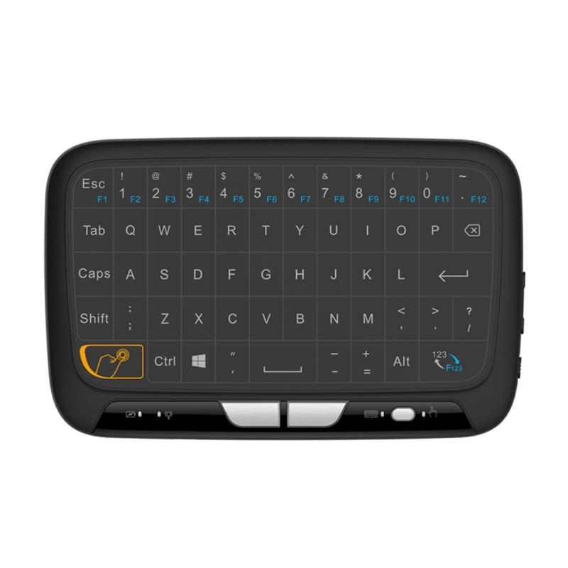Mini 2.4GHz Full Touchpad Wireless Qwerty Touch Keyboard Air Mouse for PC Notebook Android TV box for Google TV box IPTV