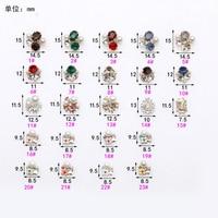 Free Shipping 100pcs/bag Crystal Pearls Rhinestones 3d Nail Art Decorations Alloy Nail Stcikers Charms Jewelry for UV Gel Polish