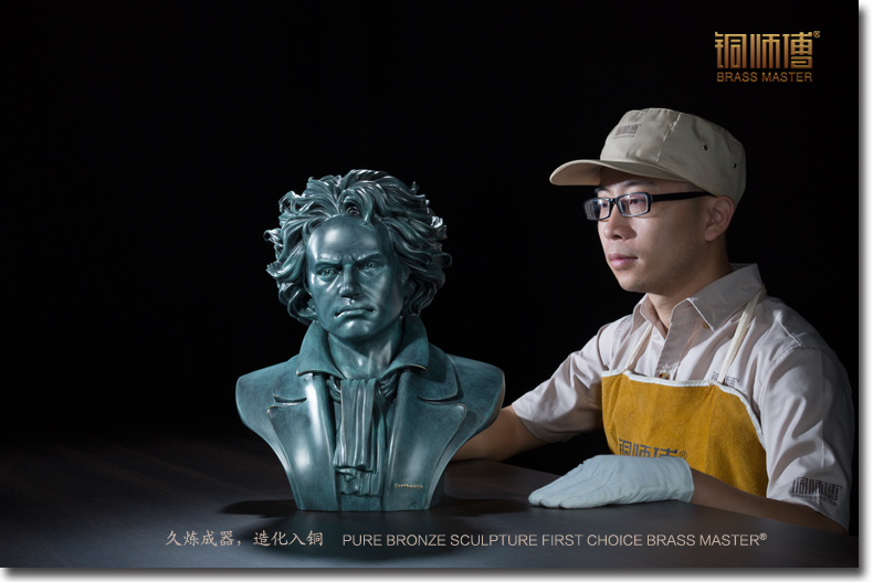 Unique High grade business gifts # TOP best ART # large great <b>Musician</b> Ludwig van Beethoven portrait bronze statue # 40 CM - China Cheap Products
