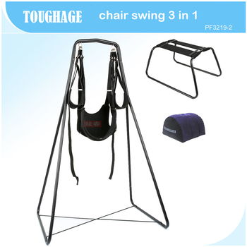 TOUGHAGE 3 in 1 furniture sex swing +chair+sex pillow adjustable bondage set adult sex swing a frame adult couples games