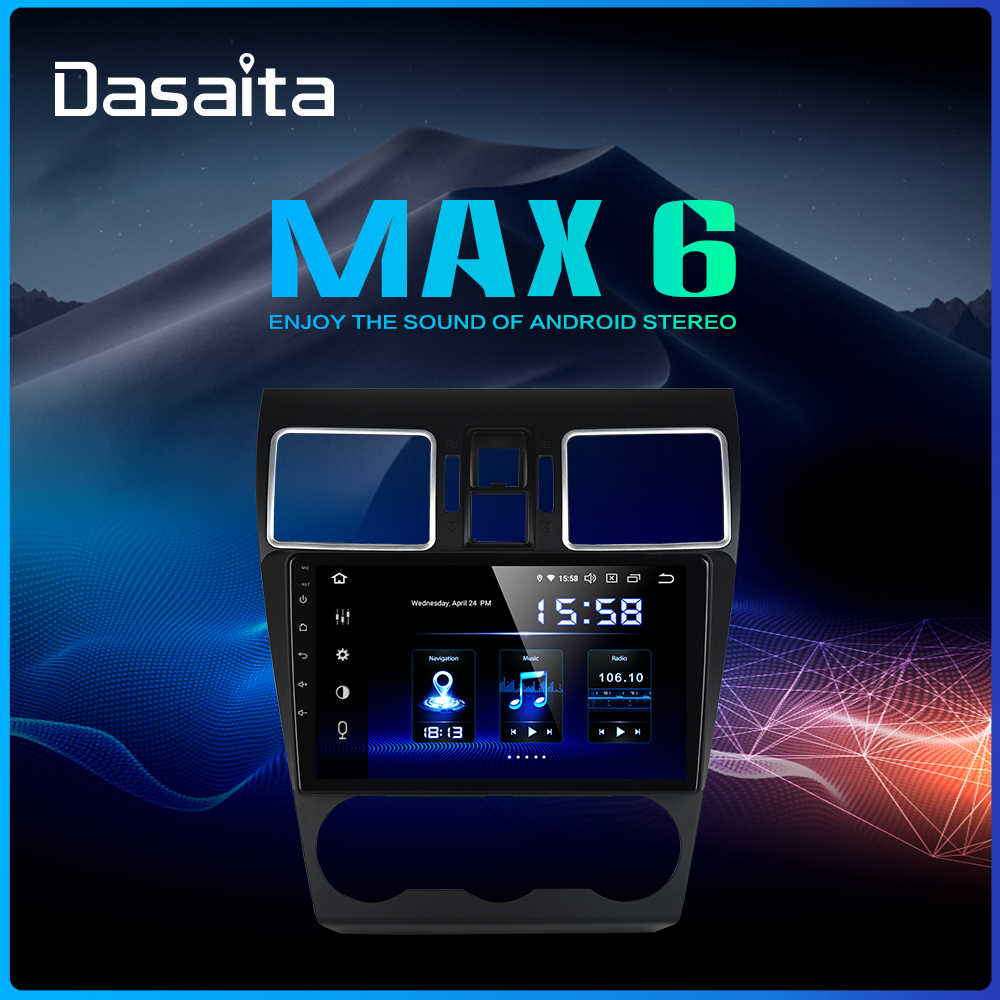 "Dasaita 9"" DSP Radio Car 1 Din Android 9.0 for Subaru Forester GPS 2016 2017 2018 Bluetooth 64G ROM HDMI 1080P Video"
