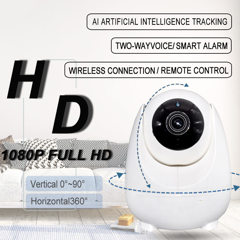 New AI System Smart Camera Baby Monitor WiFi Camera 1080P 2MP Full HD Pan/Tilt Video Surveillance Indoor Home Security IP Camera 2mp 1080p hd wireless intercom wifi ip camera indoor home surveillance system baby monitor