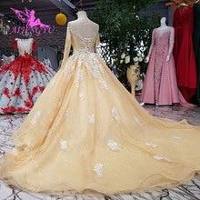 AIJINGYU Wedding Dress Tail Muslim Luxury Bridal Gowns