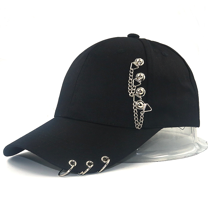 Hot Selling Bigbang Fashion KPOP Iron Ring Ball Hats Adjustable   Baseball     Cap   BTS hats fashion snapback hats women sun hat men