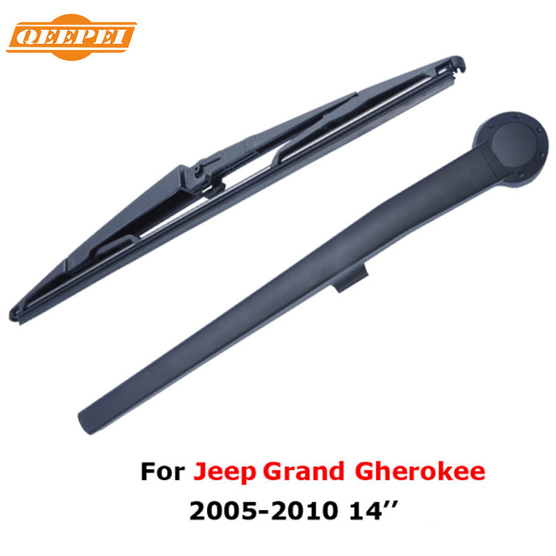 QEEPEI Rear Wiper Blade and Arm For <font><b>Jeep</b></font> <font><b>Grand</b></font> gherokee MK 3 (WK) <font><b>2005</b></font>-<font><b>2010</b></font> 14'' 4 door SUV High Quality Iso9000 Natural Rubber