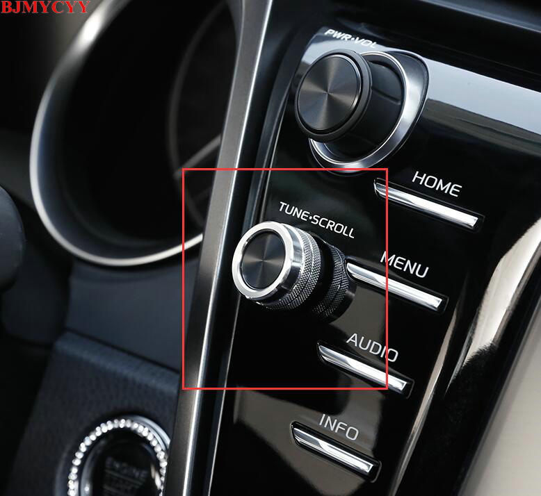 BJMYCYY Car styling Automobile function knob decoration ring For Toyota Camry 2018 tp35910 13011 16200 automobile car piston ring for toyota engine code 4age