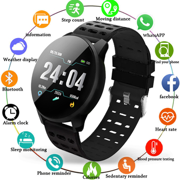 LIGE Sport Bracelet Smart IP67 Waterproof Fitness Bluetooth Connection Android ios System Heart Rate Monitor Pedometer Watch