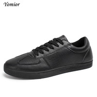 Yomior High Quality Men Breathable Casual Shoes Fashion Man Mesh Designer Laces-up Mens Leisure Leather Shoes Zapatillas