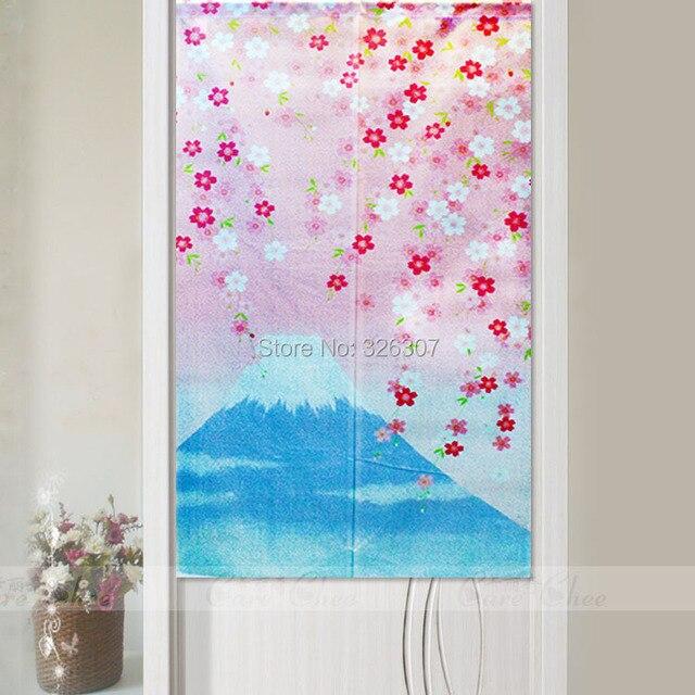 Japanese Noren Romance Spring Fujiyama Embellished 85cmx150cm Door Curtain  Japan Mount Fuji Bathroom Cloth Bedroom Partition