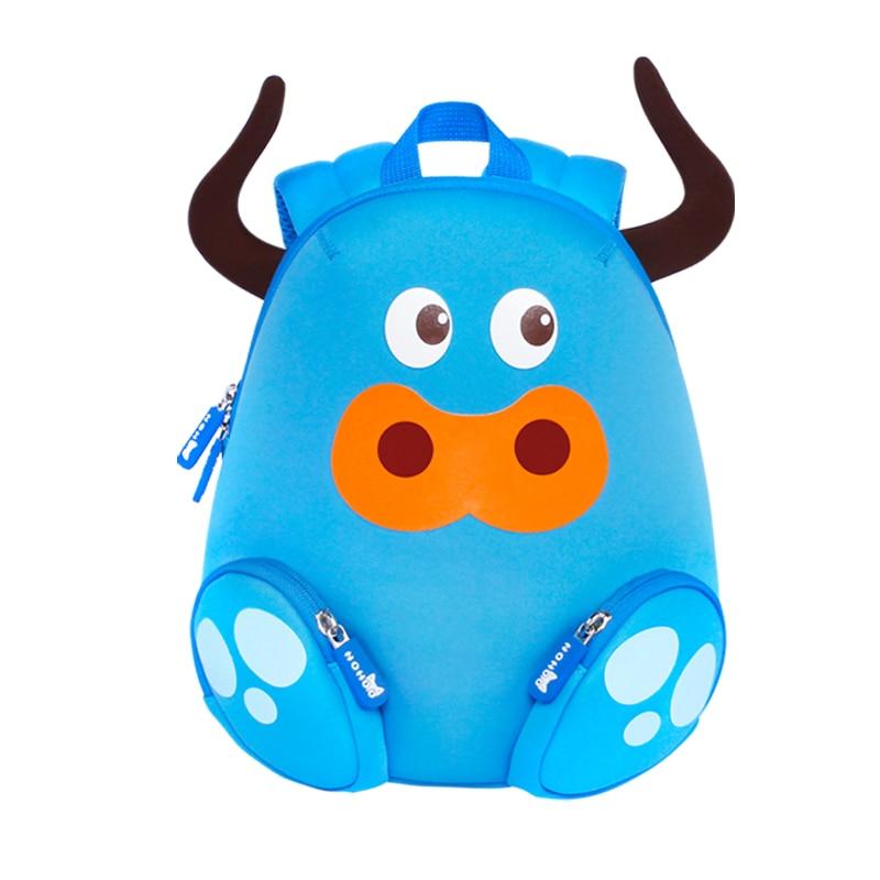 ФОТО NOHOO Butterfly Waterproof Children School Bags Cow Animals School Backpacks For Teenage Girls Large Capacity Baby Backpack