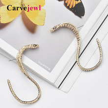 Carvejewl big snake stud earrings unique vivid anti gold for women jewelry girl gift romantic new fashion European earring