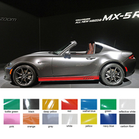 2PC Rule styling stripe graphic Vinyl personal cool racing side door car stickers for MAZDA MX 5 RF car accessories decals