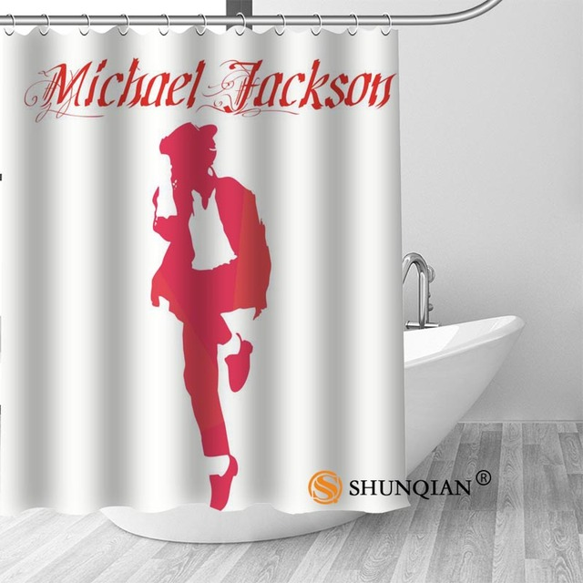 1 Michael jackson shower curtain washable thickened 5c64f7a44eda9
