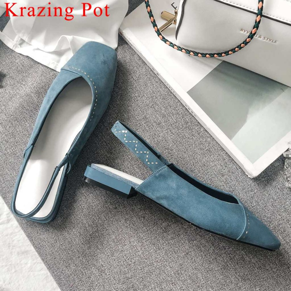Spring Summer woman concise pumps driving shoes low heels natural leather square toe slingback solid vocation party shoes La3Spring Summer woman concise pumps driving shoes low heels natural leather square toe slingback solid vocation party shoes La3
