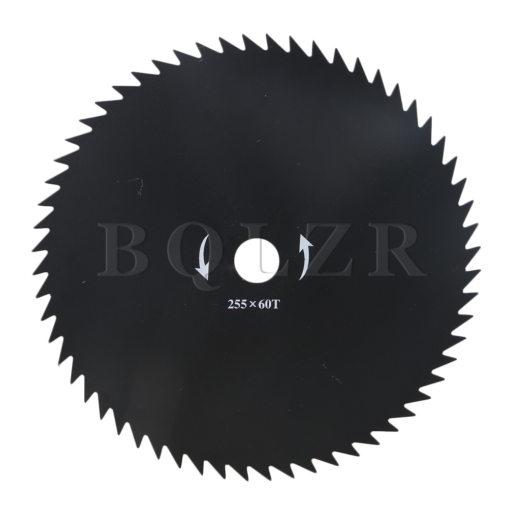 10 in 60 Teeth Black Round Strimmer Cutting Saw Blade Brush Cutter Parts BQLZR 14 160 teeth 2 2 teeth thickness 355mm carbide saw blade for cutting polycarbonate plexiglass perspex acrylic