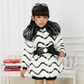 Новый осень зима дети девушка Роскошный теплый искусственного Лиса пальто енота кролика искусственного меха пальто куртка одежда верхняя одежда пальто