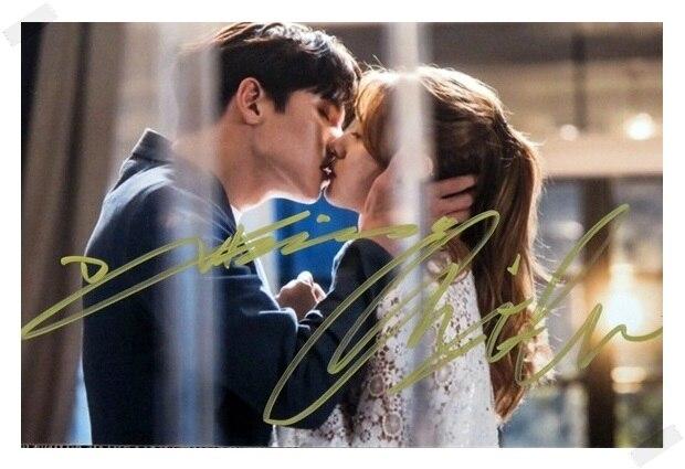 signed Ji Chang Wook Nam Ji Hyun autographed original photo  6 inches 5 versions free shipping 082017B