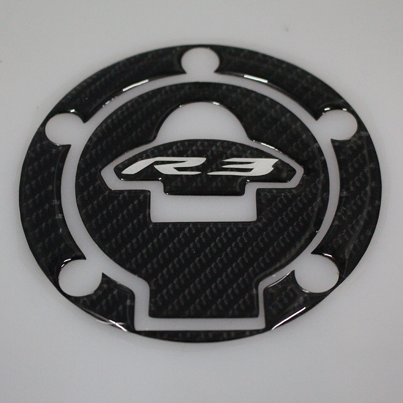 Motorcycle Carbon Fiber Fuel Tank Gas Pad Decal Stickers R3 Logo For YAMAHA YZF-R3 YZF R3 2014 2015 2016