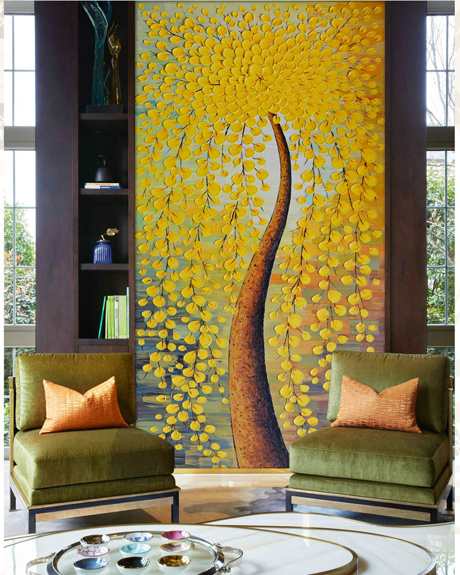 Abstract Wallpaper knife oil paintings Wall mural Photo wallpaper ...