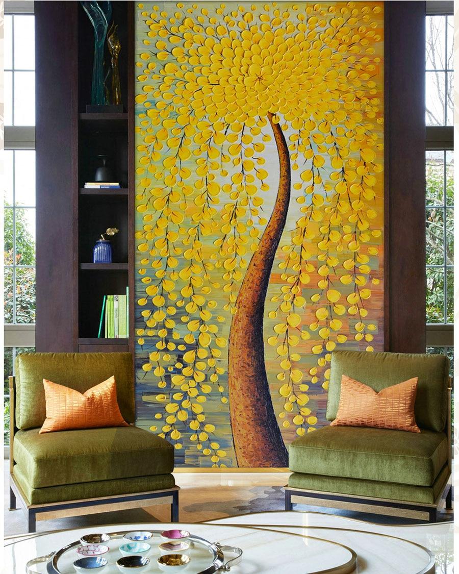 Abstrakte tapete messer ölgemälde wand mural fototapete ...