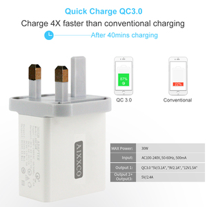 Image 4 - AIXXCO 3 Ports Quick Charger QC 3.0 30W USB Charger For iphone 7 8 ipad Samsung S8 Huawei Xiaomi Fast Charger QC3.0 EU/US Plug