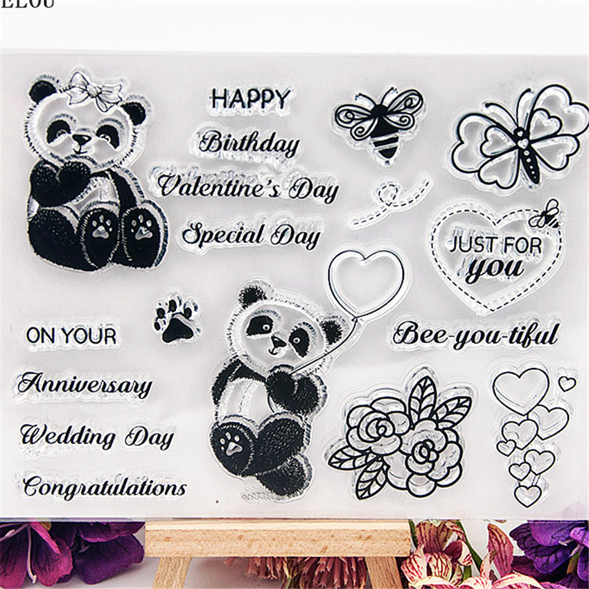 wedding day transparent silicone stamp for diy scrapbooking photo decoration