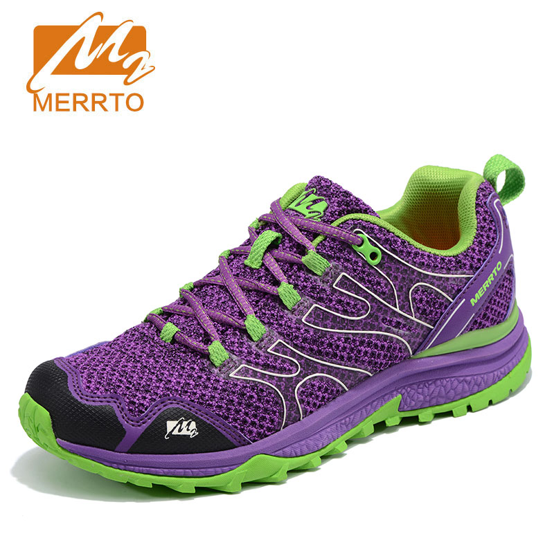MERRTO Women's outdoor Running Shoes Anti Slip  Breathable wear-resistant damping camping Sneakers Lightweight Jogging Shoes new hot sale children shoes comfortable breathable sneakers for boys anti skid sport running shoes wear resistant free shipping