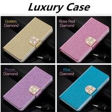 Flip Glitter Case For OPPO R9 PU Leather Rhinestone Diamond Cover Card Slot  Wallet Pouch Phone 144b8812c62b