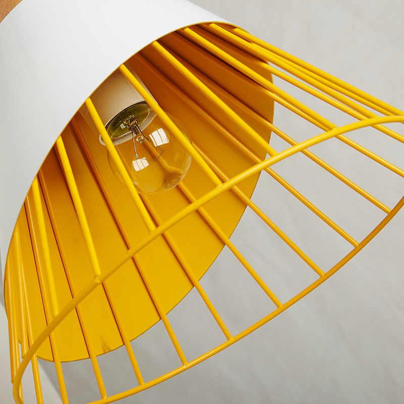 Цветной деревянный железный чистая Корея украшение для столовой Подвесная лампа для кабинета, ручной стержень, для кафе, для магазина E27 одна осветительная головка, креативная висячая лампа A184