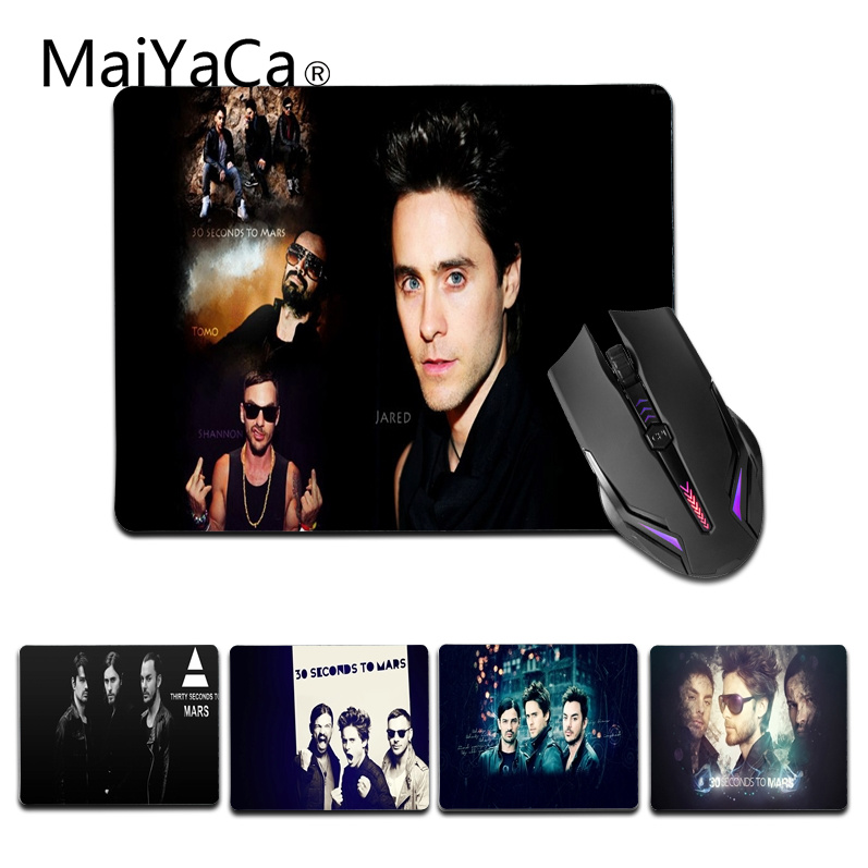 MaiYaCa Hot Sales 30 Seconds To Mars mouse pad gamer play mats Size for 180x220x2mm and 250x290x2mm Small Mousemat