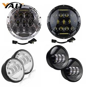 Yait 7 Harley Daymaker Led Headlight 4.5Inch Auxiliary Lamp Led Light Bulb for Harley-Davidson Motorcycle harley davidson headlight price