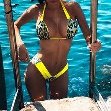 Bikinx Brazilian leopard bikini 2019 Push up thong swimsuit female Halter high cut swimwear women bathing suit Micro sexy bikini